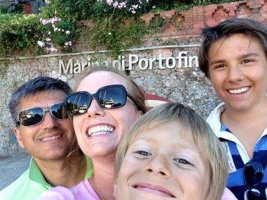Familien Sletten i Portofine_Sommer 2013